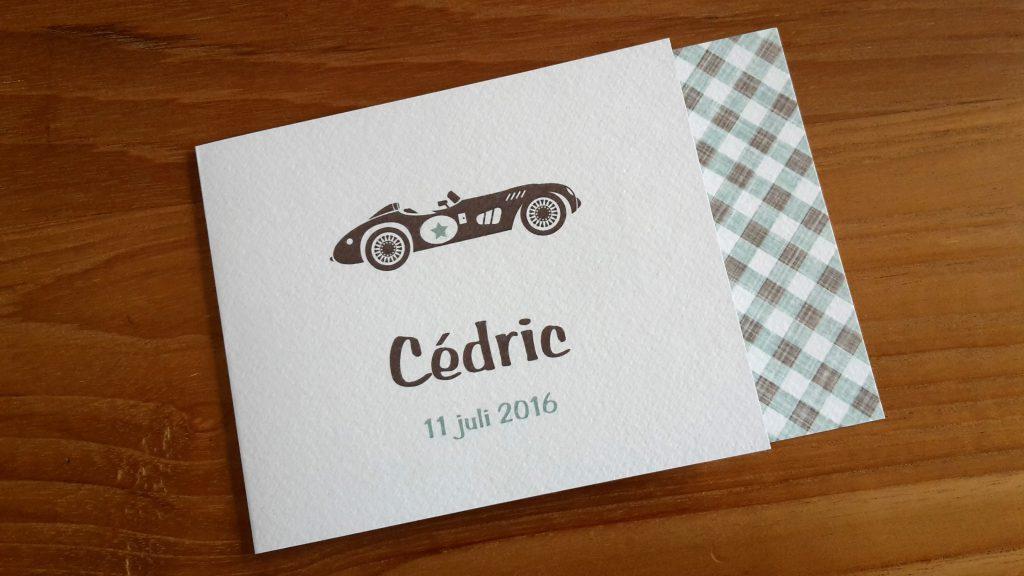 Geboortekaartje Cédric